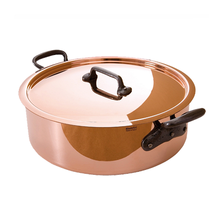 Mauviel M'Heritage Copper and Stainless Steel Rondeau, 28cm